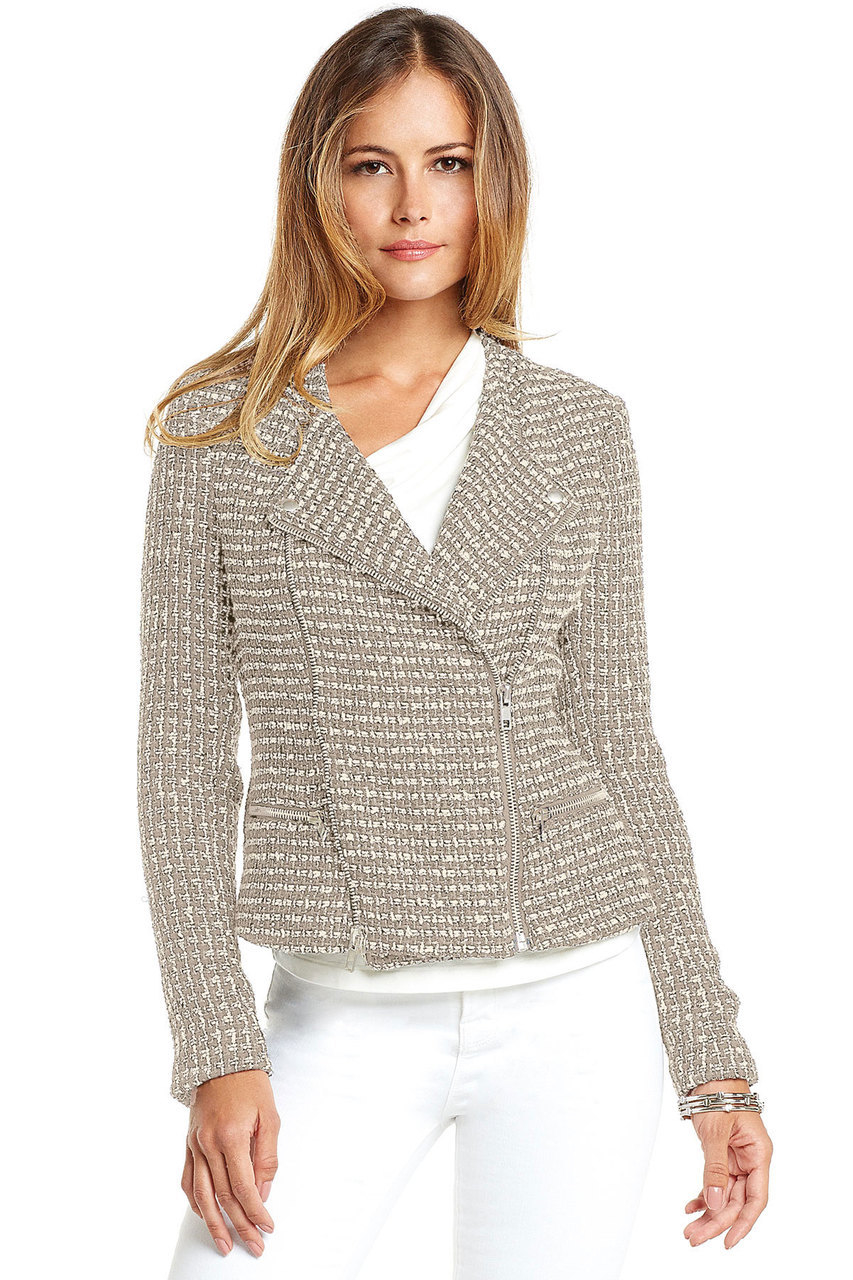 Tart Collections Endellion Jacket In Tan Amp Cream In Gray