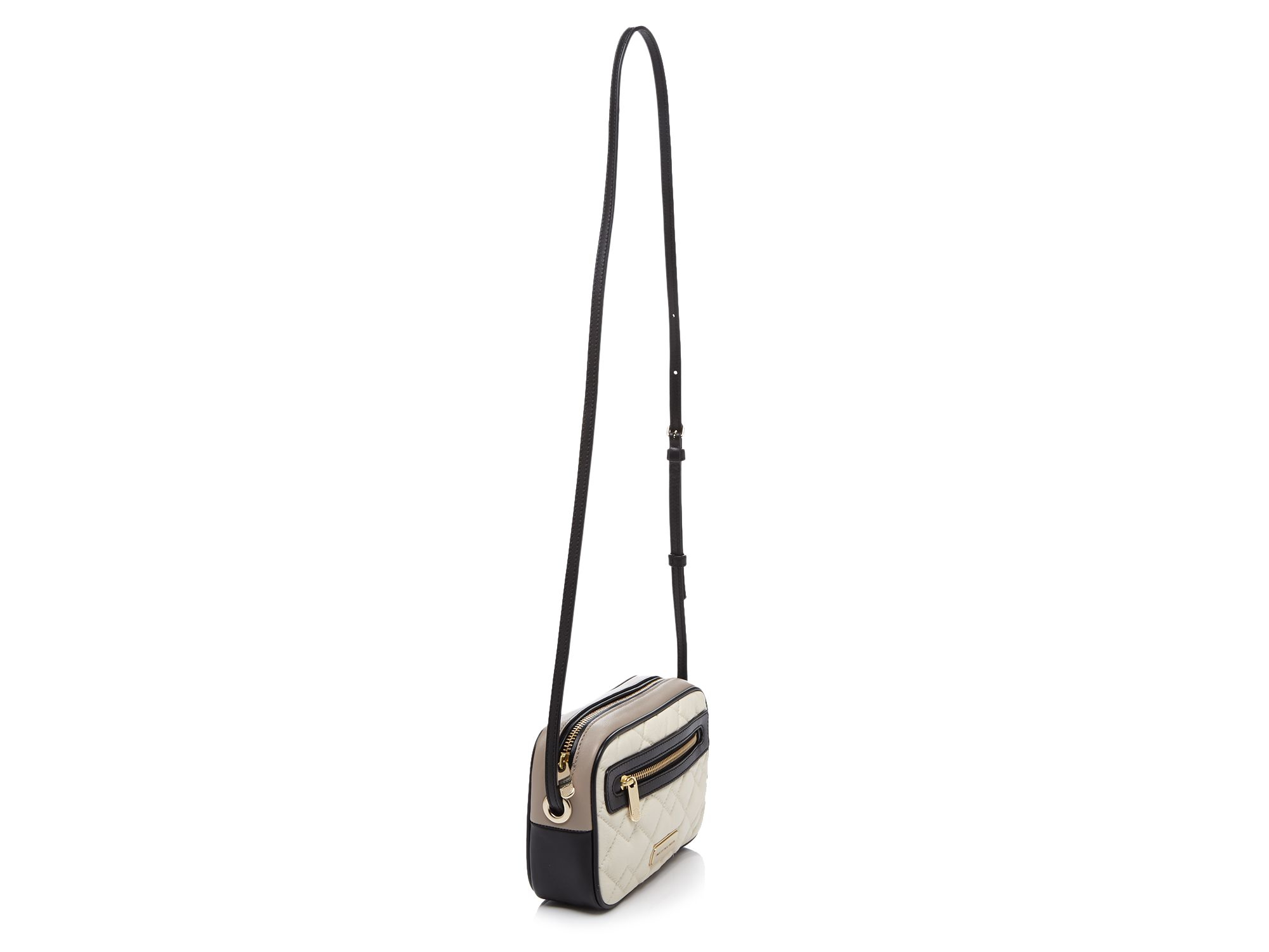 Marc By Marc Jacobs Crossbody - Sally Moto Quilted Colorblocked in Black