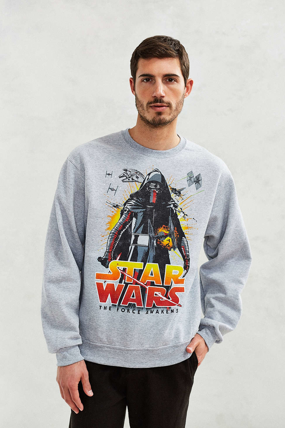 Urban outfitters Star Wars Episode 7 Crew-neck Sweatshirt in Gray ...