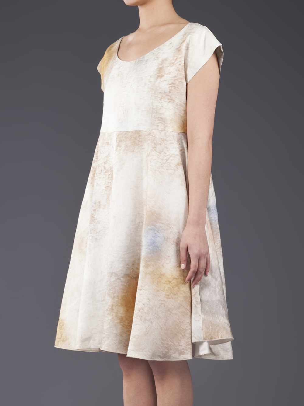 Lyst ter et bantine stained dress in white for 43591 white cap terrace