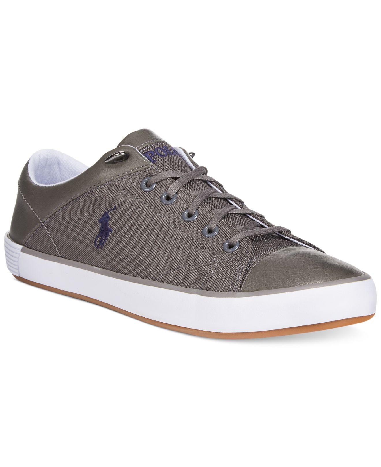lyst polo ralph lauren jerom sneakers in gray for men. Black Bedroom Furniture Sets. Home Design Ideas
