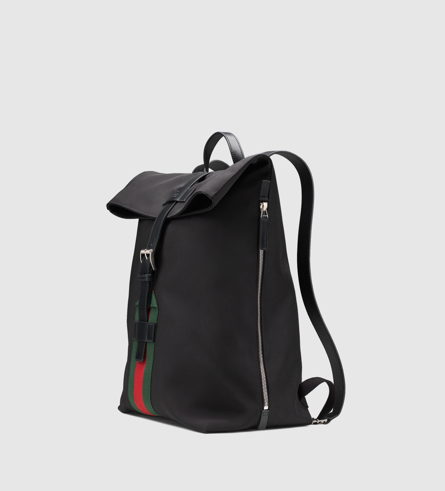 ff06baa323f Lyst - Gucci Black Techno Canvas Backpack in Black for Men