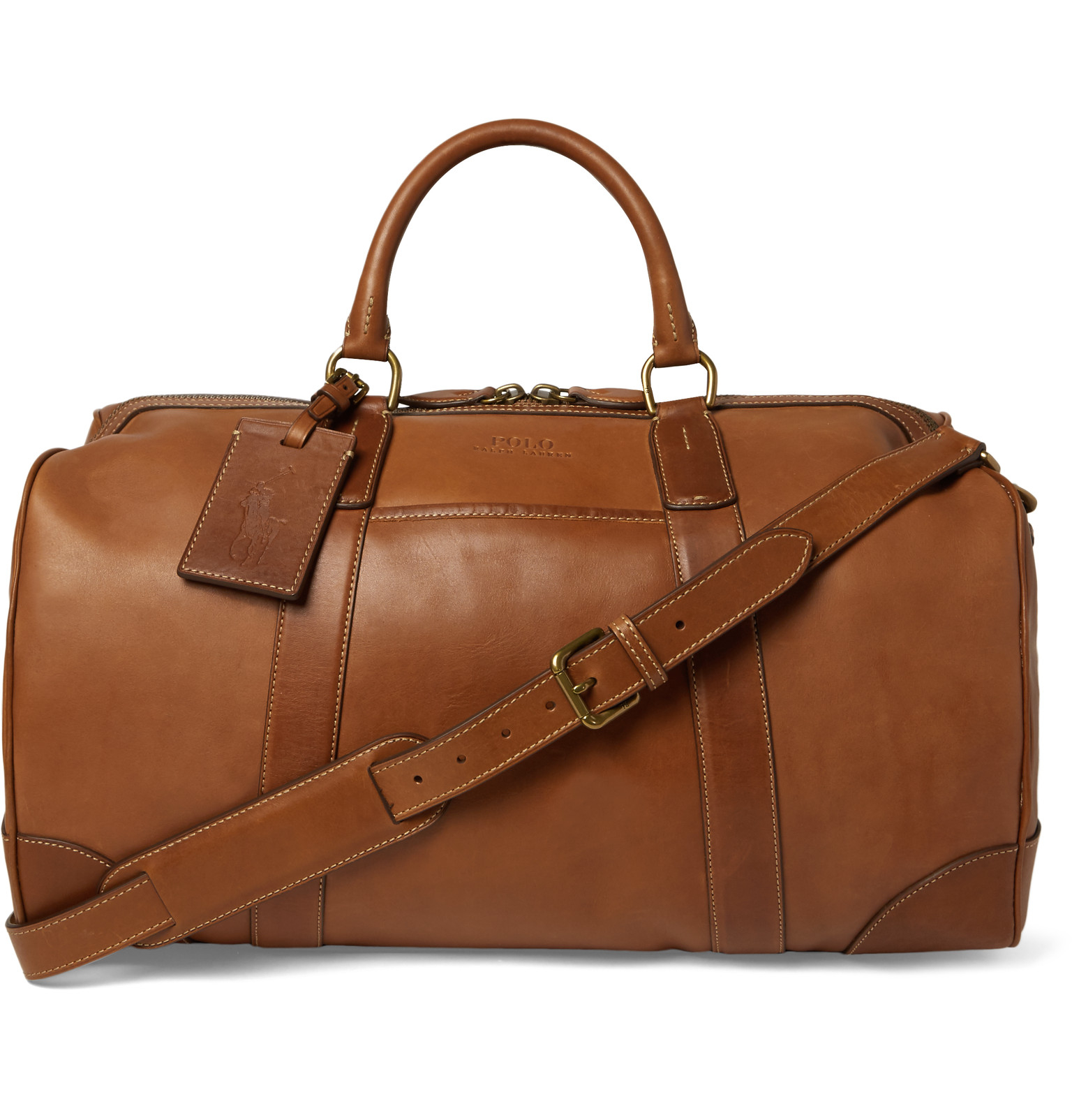 61904418b9f7 Polo Ralph Lauren Leather Duffle Bag in Brown for Men - Lyst