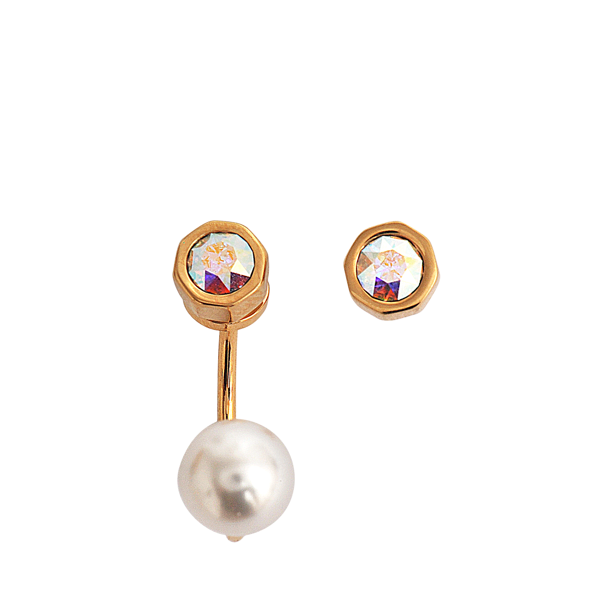 francesca maria normal gallery pepe earrings asymmetric metallic in jewelry lyst none product