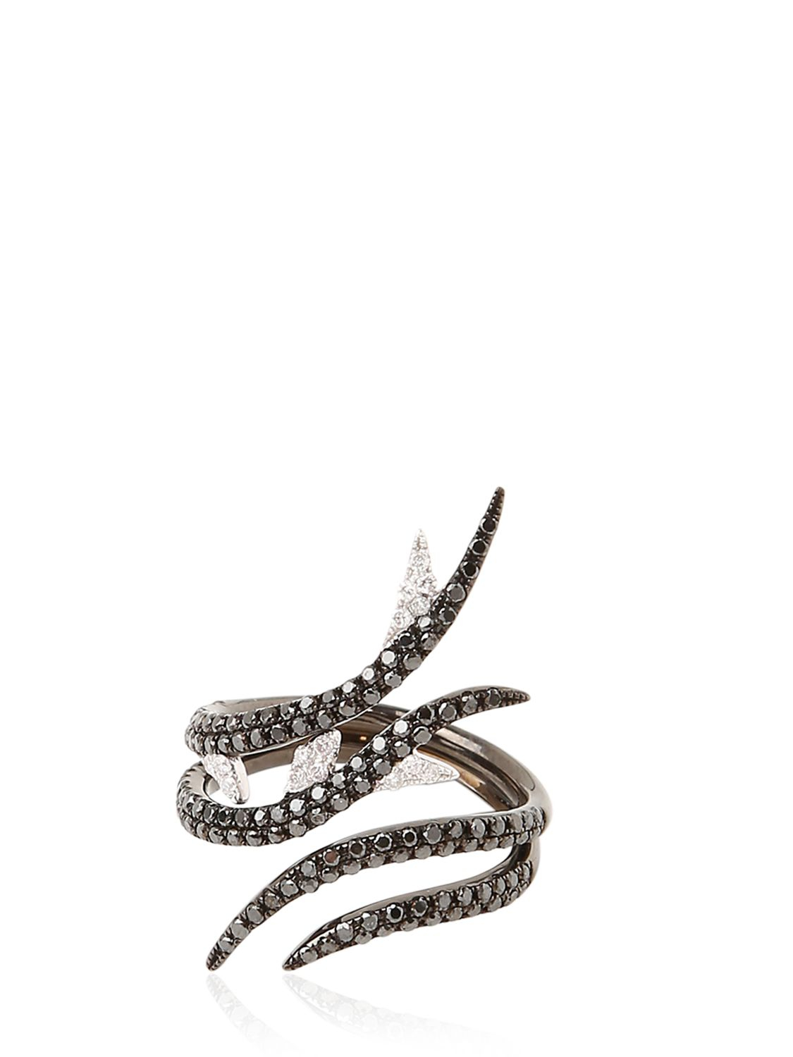 AS29 Forest Collection Pinky Ring in Black Diamond (Black)