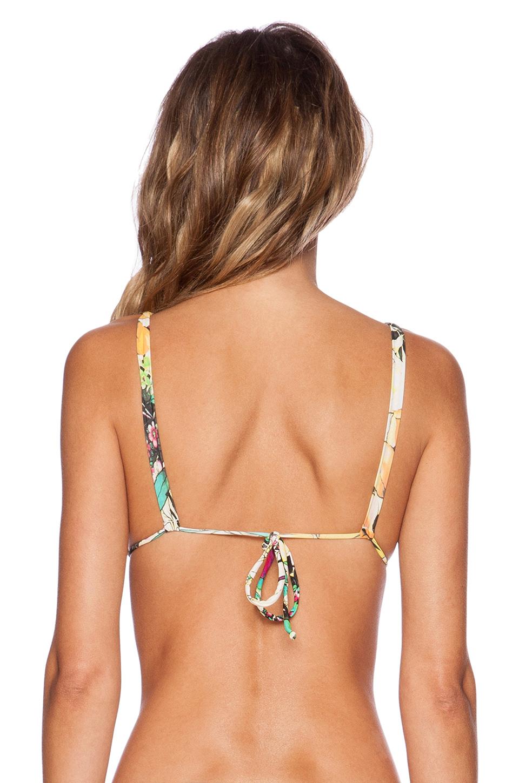 san lorenzo braided strap reversible hipster bikini top in green wildflower lyst