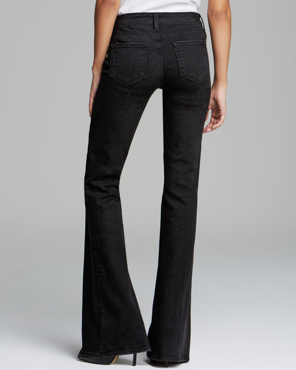 6d7eaa1b2b807 Lyst - PAIGE Jeans Fiona Flare in Vintage Black in Black