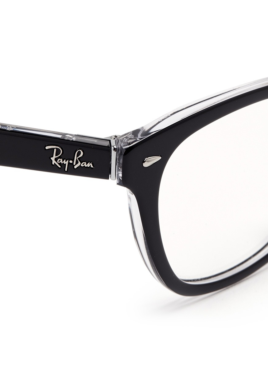 392e0de094 Lyst - Ray-Ban Two Tone Square Cat Eye Optical Glasses in Black