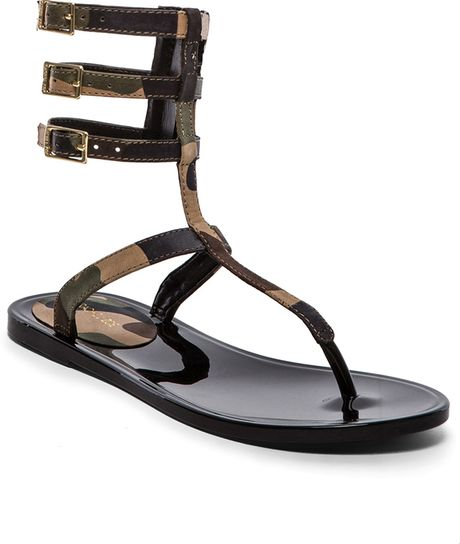 Rachel Zoe Cecille Sandal in Gray (Camouflage)