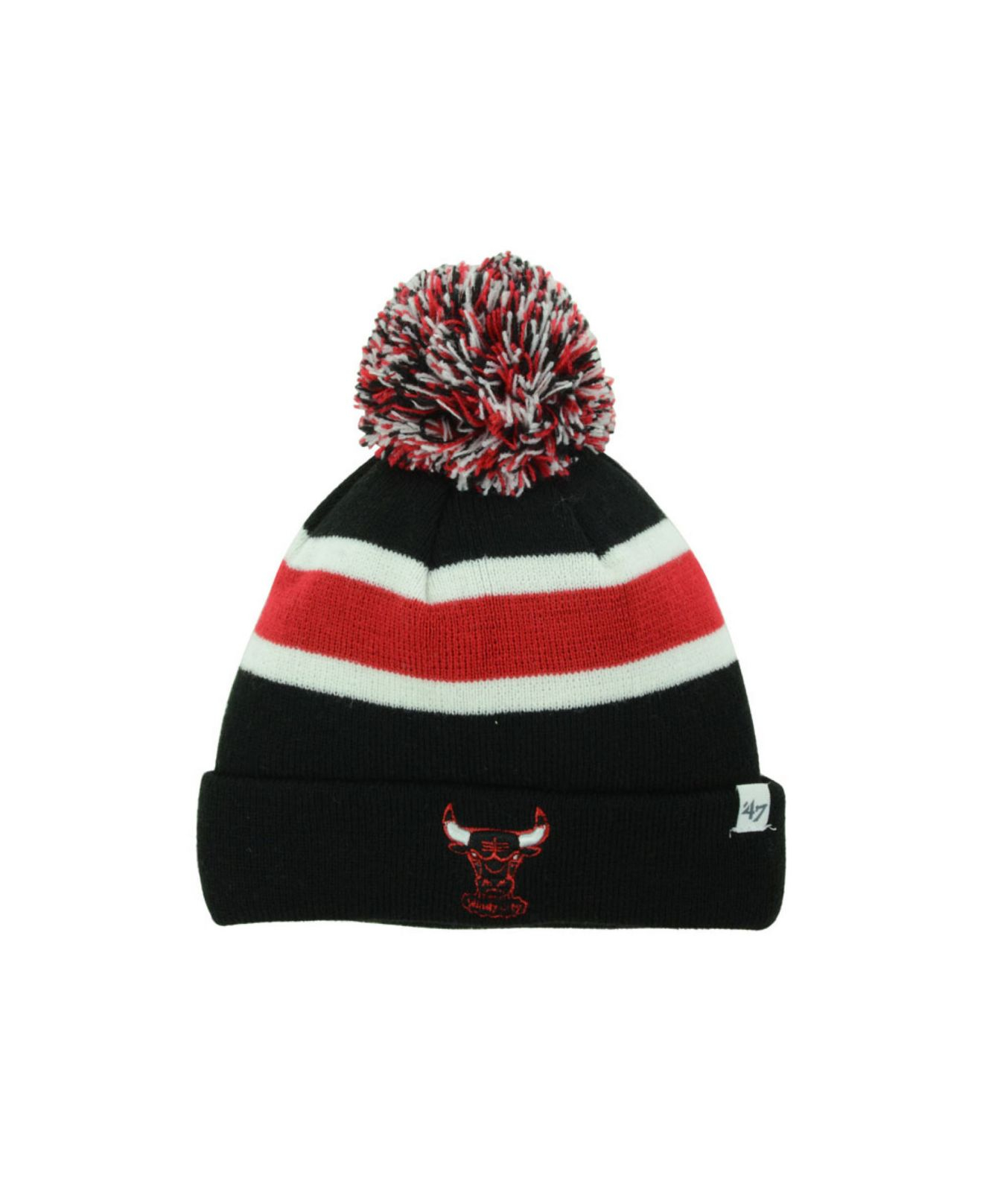 295377266e5c3 Lyst - 47 Brand Kids  Chicago Bulls Hwc Breakaway Pom Knit Hat in Black