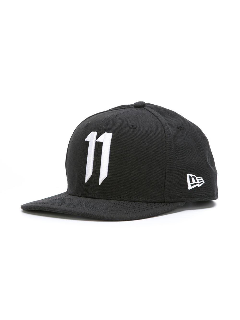 71be9d5685c Boris Bidjan Saberi 11 Embroidered 11 Cap in Black for Men - Lyst