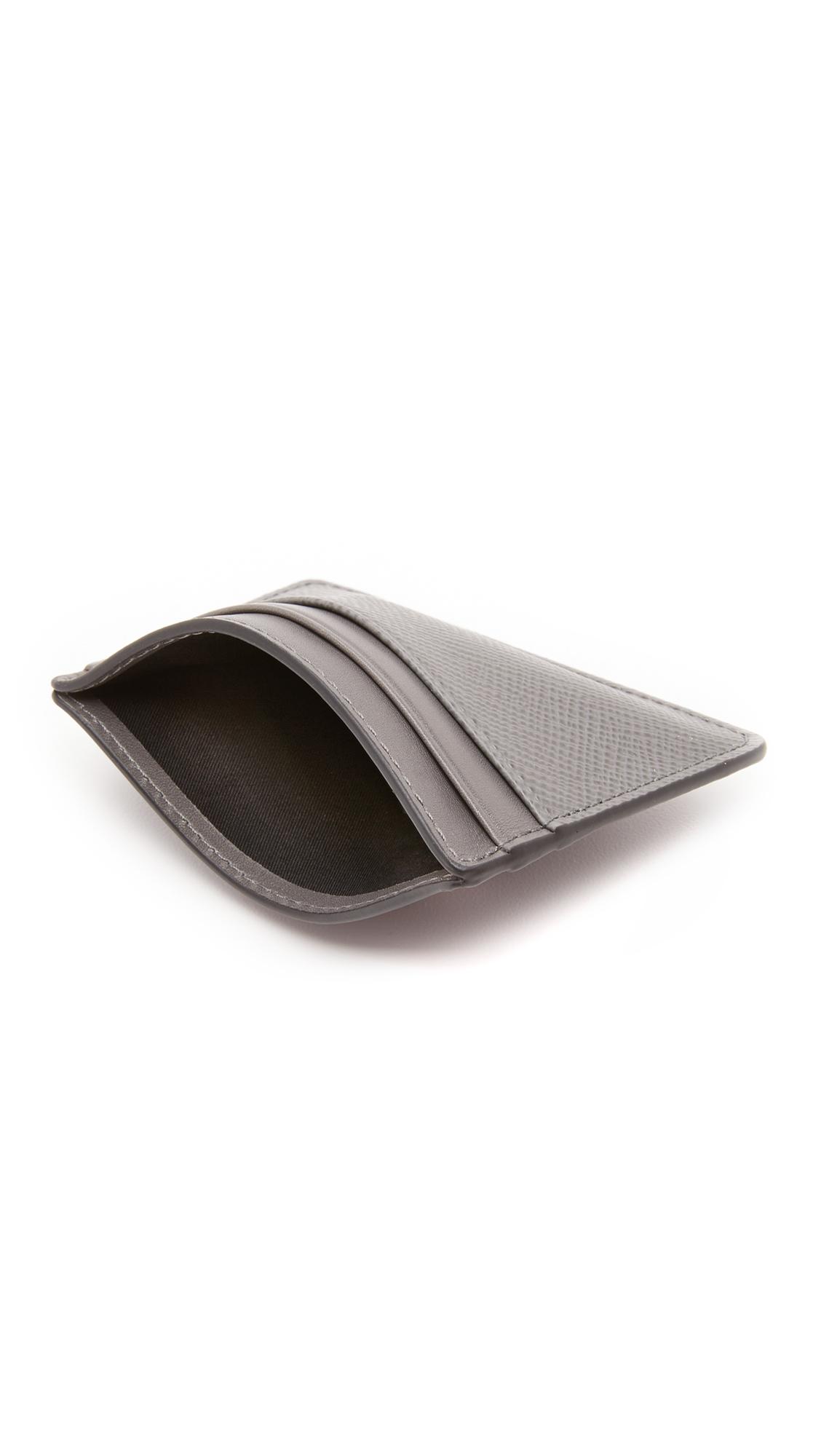 watch d9dae 092b7 Michael Kors Gray Harrison Leather Card Case for men