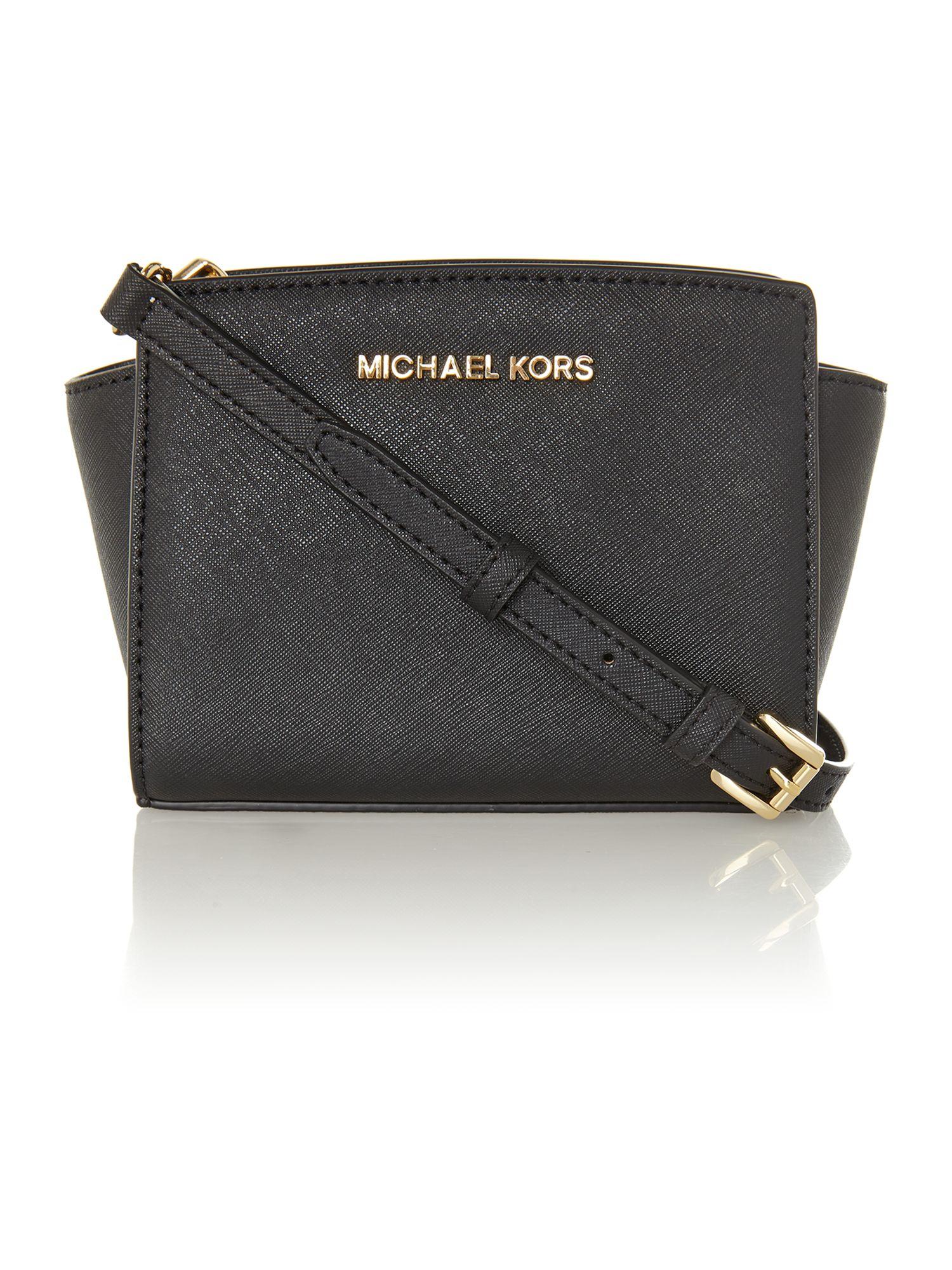 088c8e17bb041a Michael Kors Selma Black Mini Cross Body Bag | Stanford Center for ...