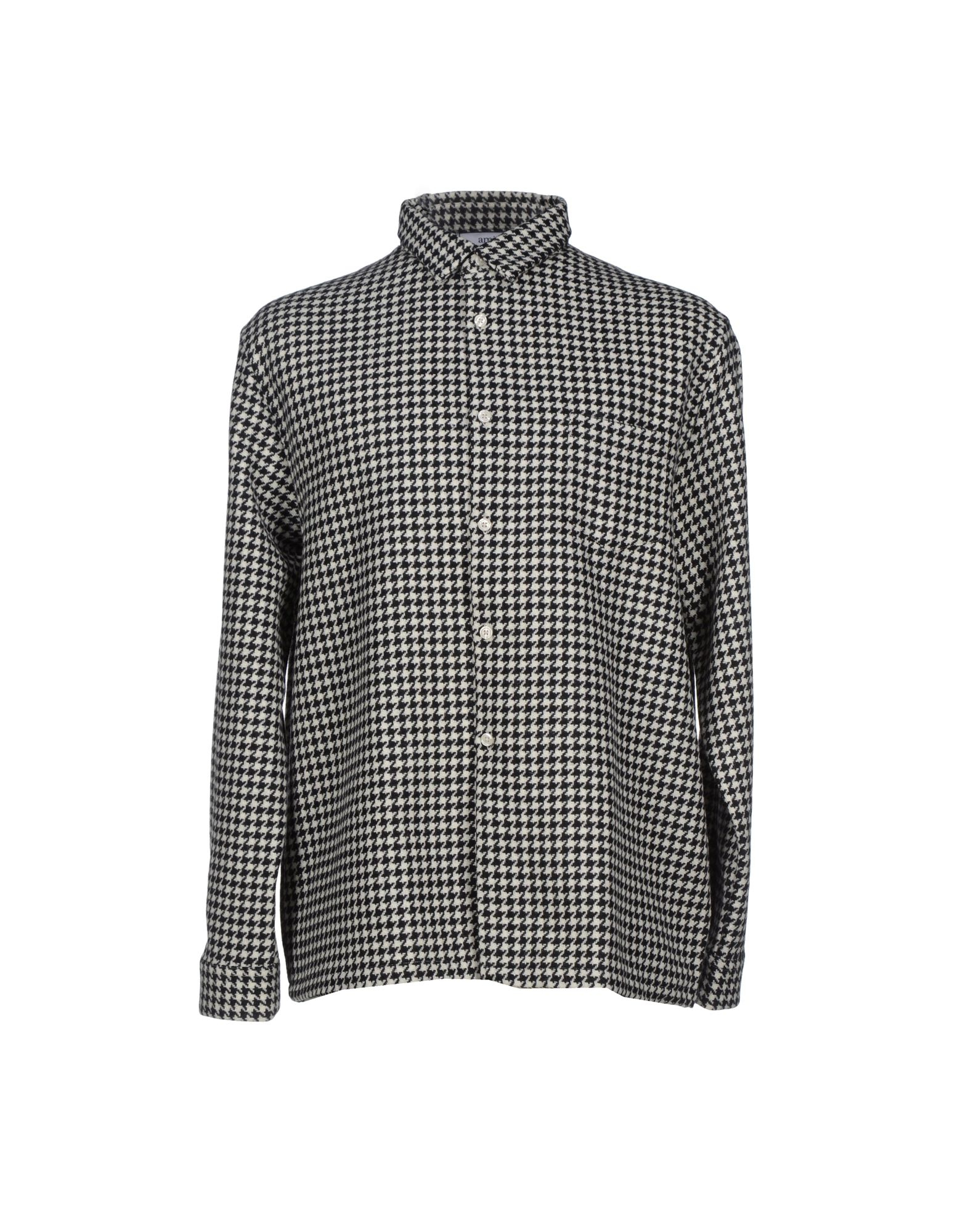 Lyst Ami Houndstooth Flannel Shirt In Black For Men