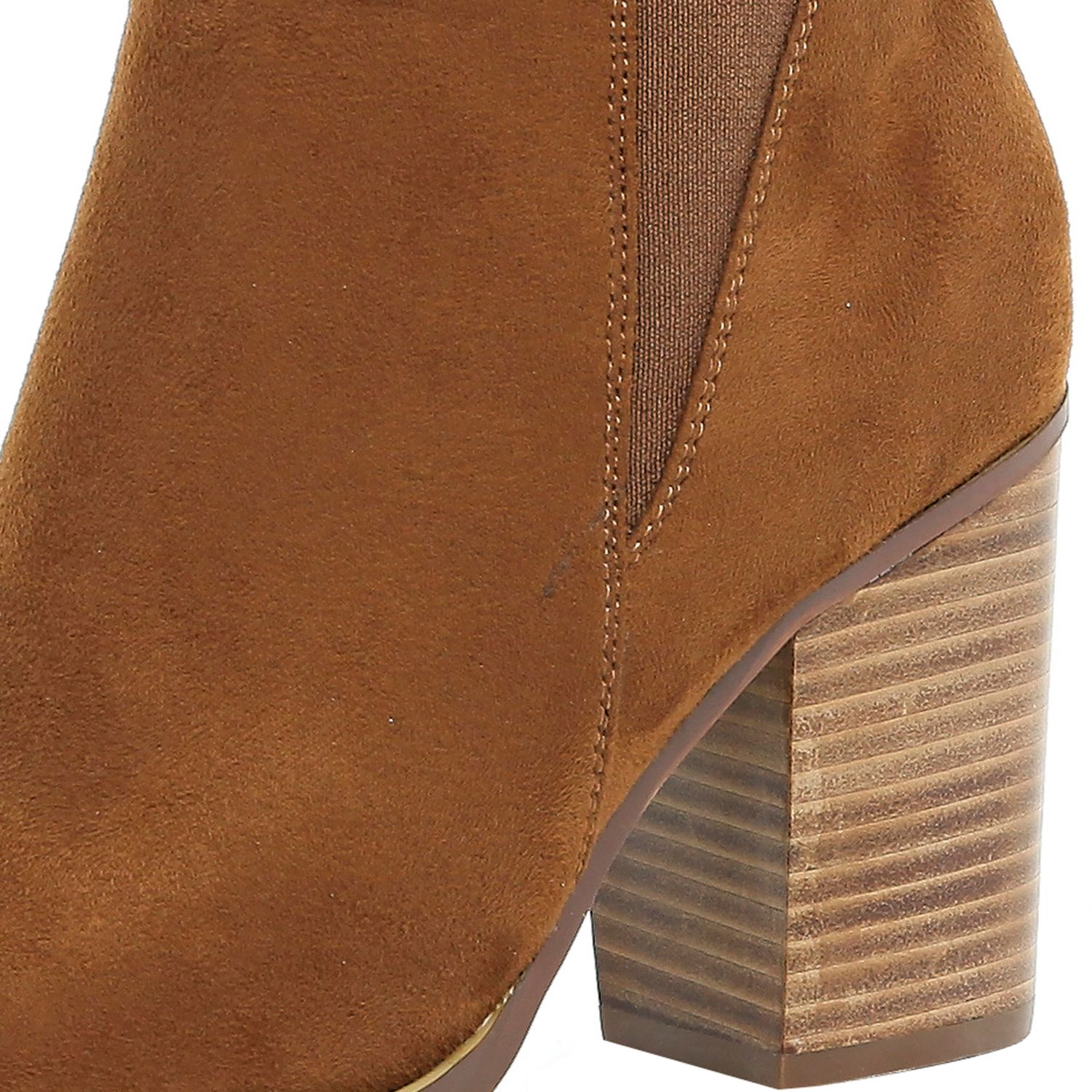 River Island Suede Tan Brown Heeled Chelsea Boots