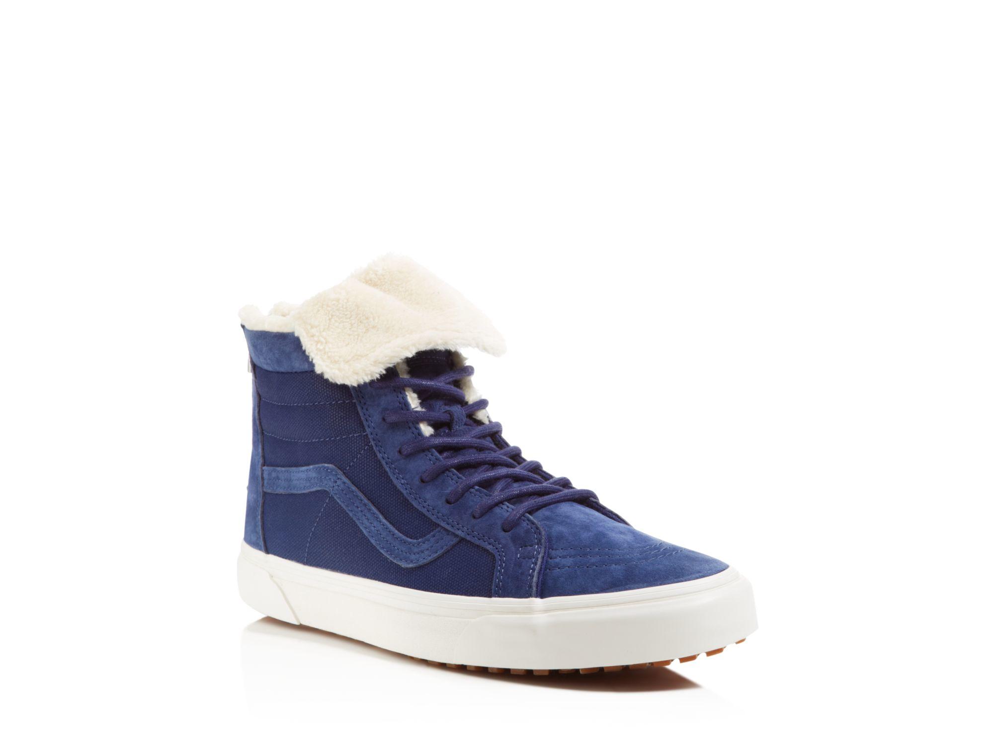 5d067908cc Lyst - Vans Sk8-hi Zip Mte Ca Fleece Sneakers in Blue for Men