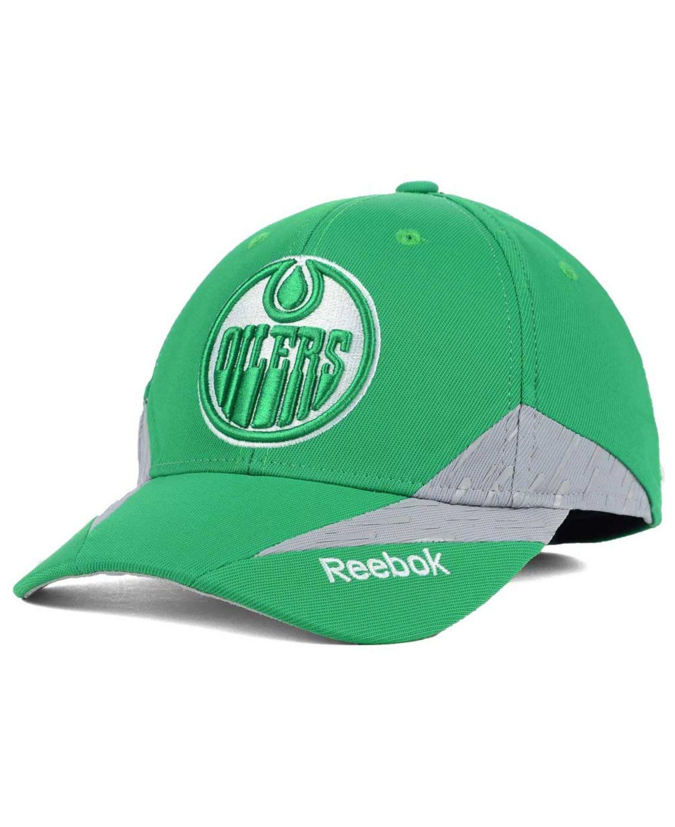 48d13acb1c0 Lyst - Reebok Edmonton Oilers Practice Flex Cap in Green for Men