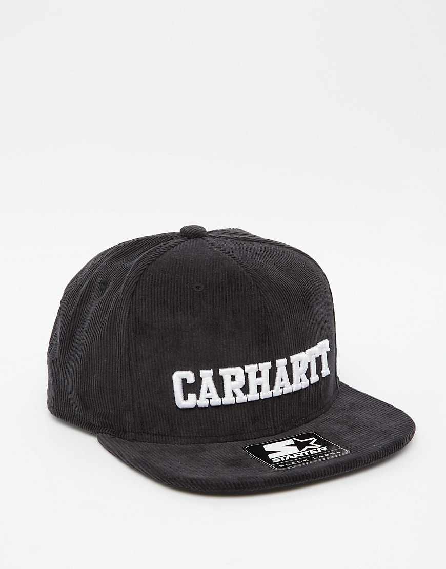 Lyst - Carhartt WIP Walker Starter Snapback Cap In Cord in Black for Men 05b34c9f4f46