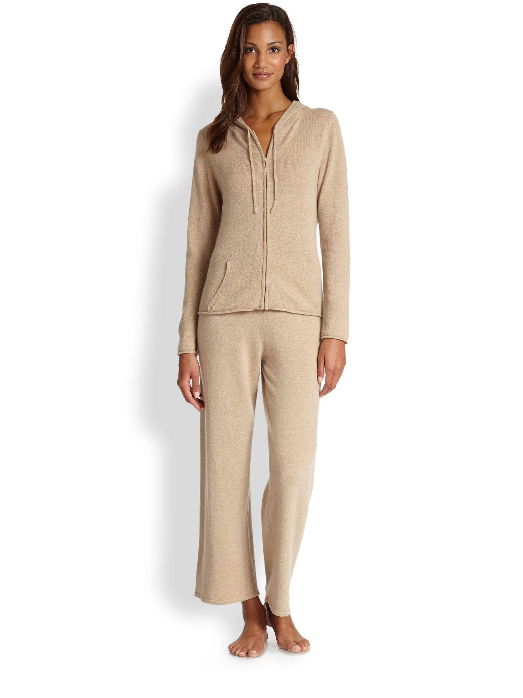 198d5a373910 Lyst - Saks Fifth Avenue Cashmere Pajama Pants in Natural
