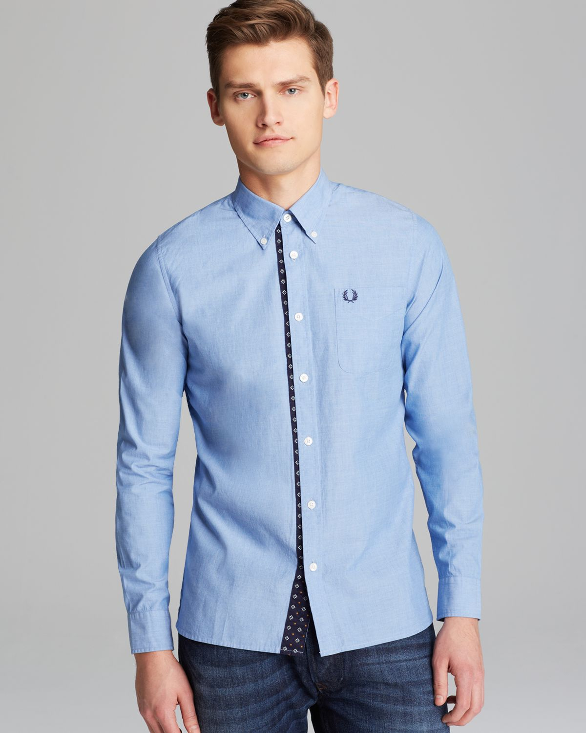 0c48af9e05 Lyst - Fred Perry Drakes Archive Sport Shirt Slim Fit in Blue for Men