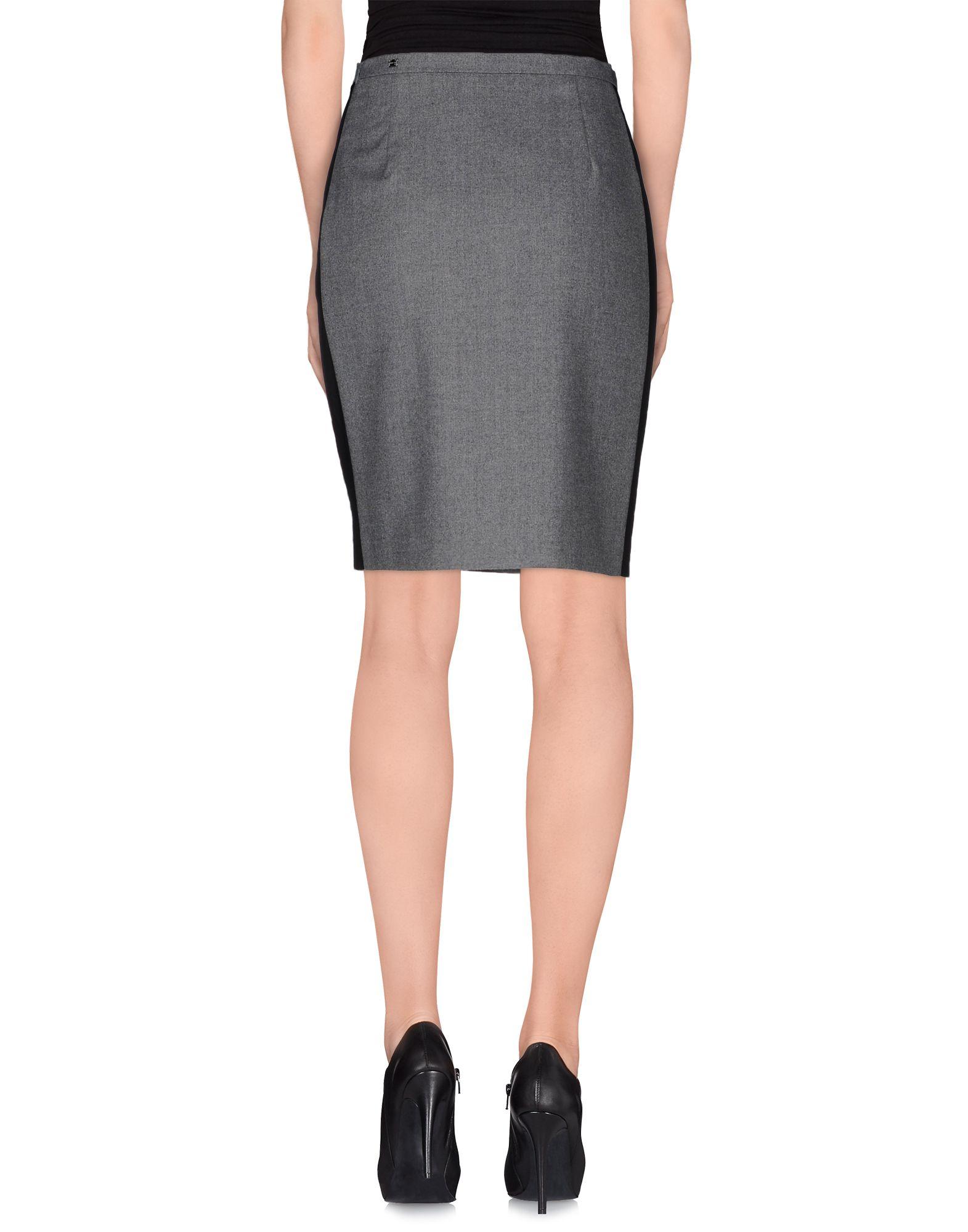 caractere gray knee length skirt lyst