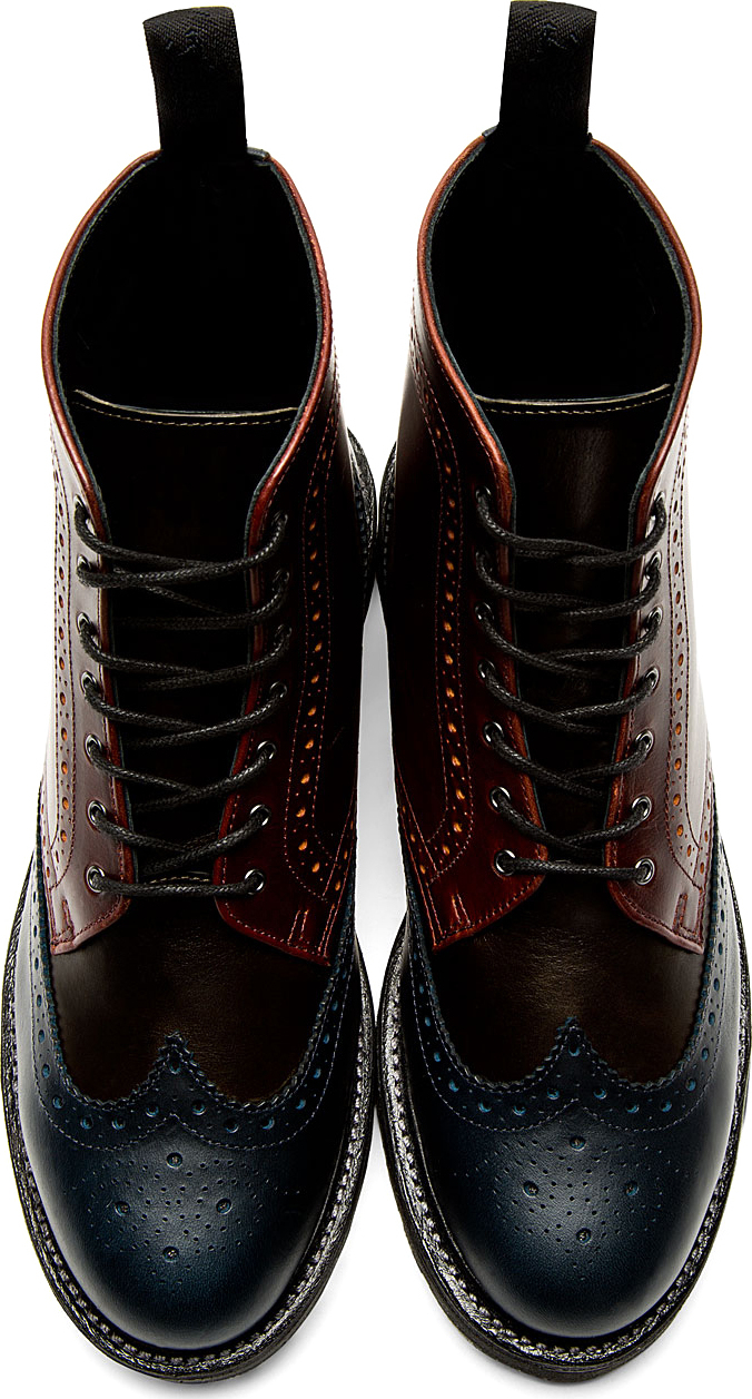 Dr Martens Burgundy Leather 8 Eye Bentley Ankle Boots In