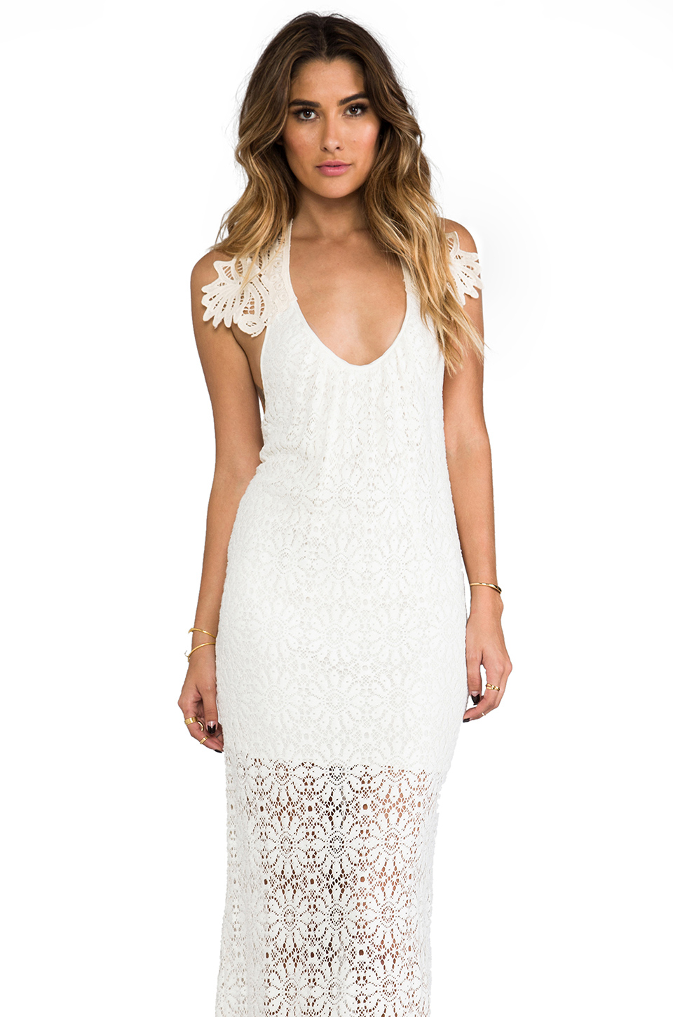 Jen S Pirate Booty Freedom Maxi Dress In White Lyst