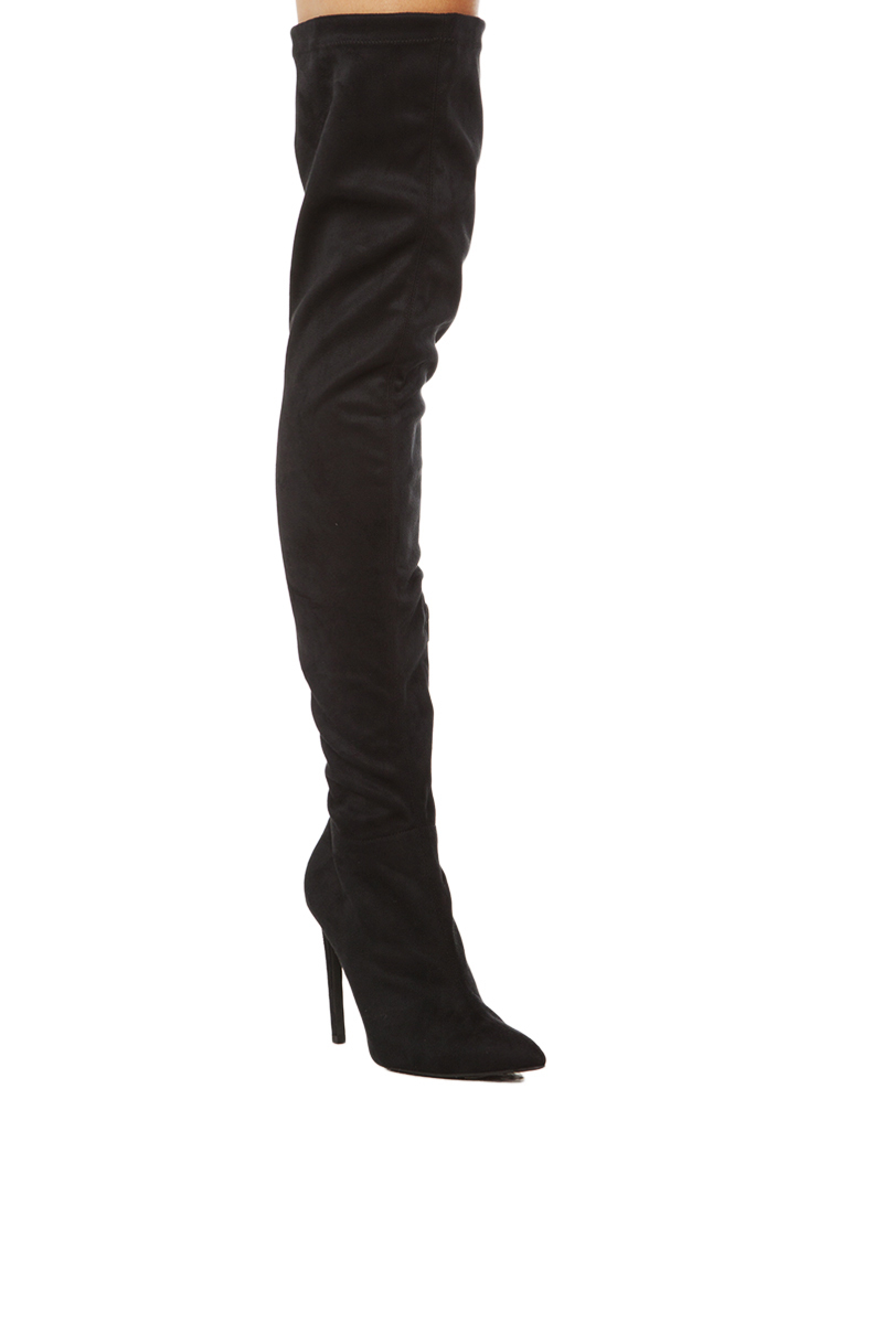 Jeffrey Campbell Essie Thigh High Boot in Black