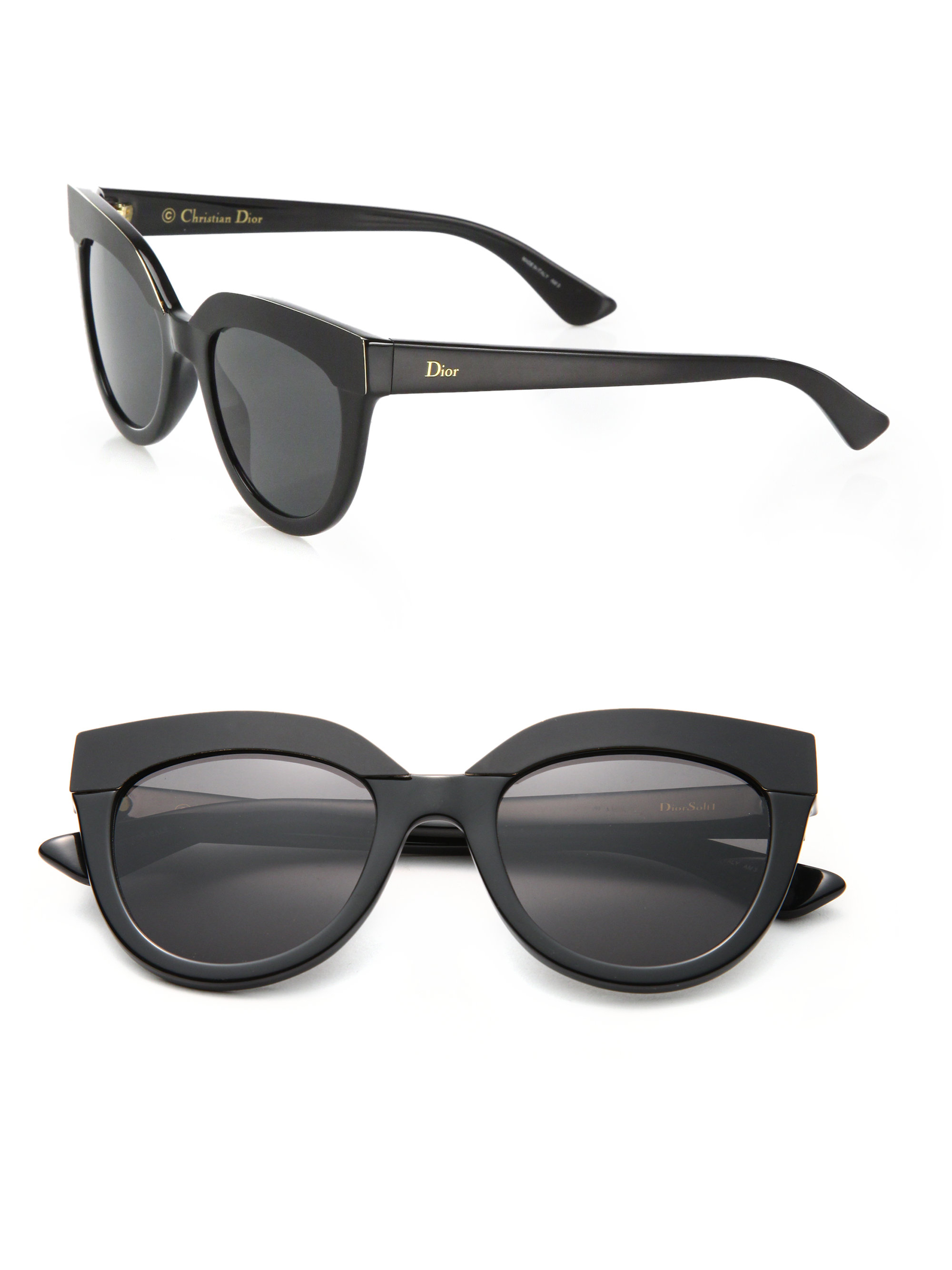 Dior Black Sunglasses  dior 51mm soft 1 sunglasses in black lyst