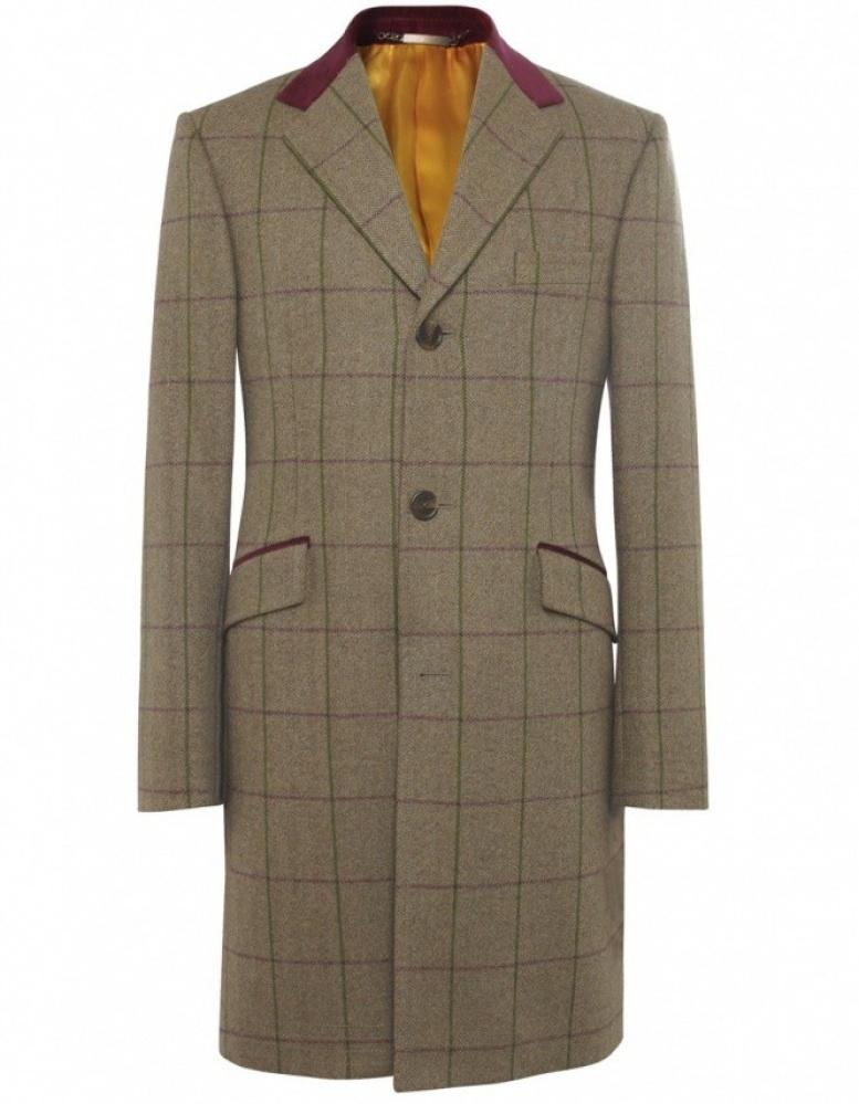 Tweed overcoat