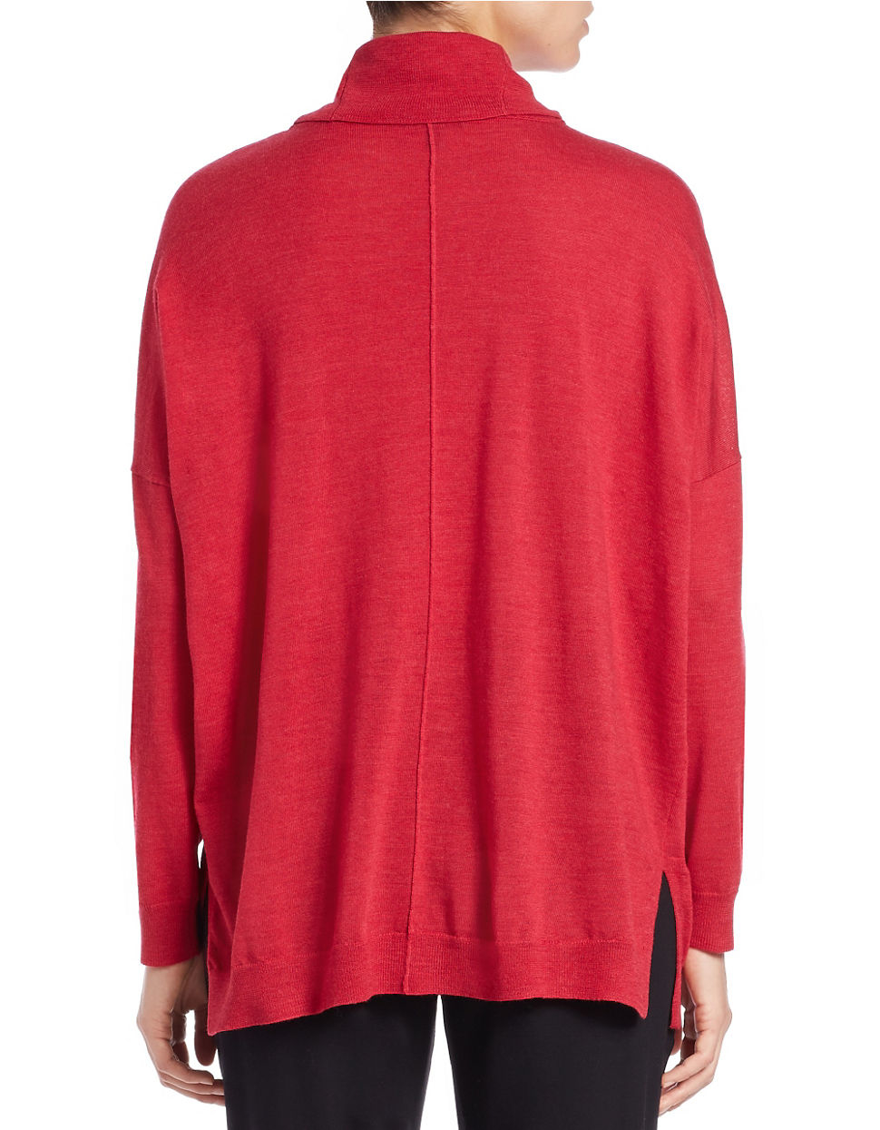 Eileen Fisher Relaxed Merino Wool Turtleneck Sweater In