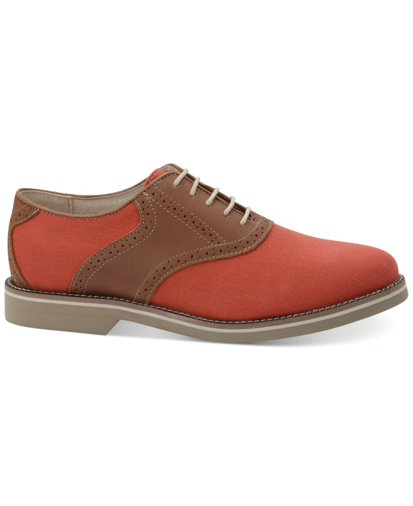 gh bass amp co carson canvas saddle shoes in orange for