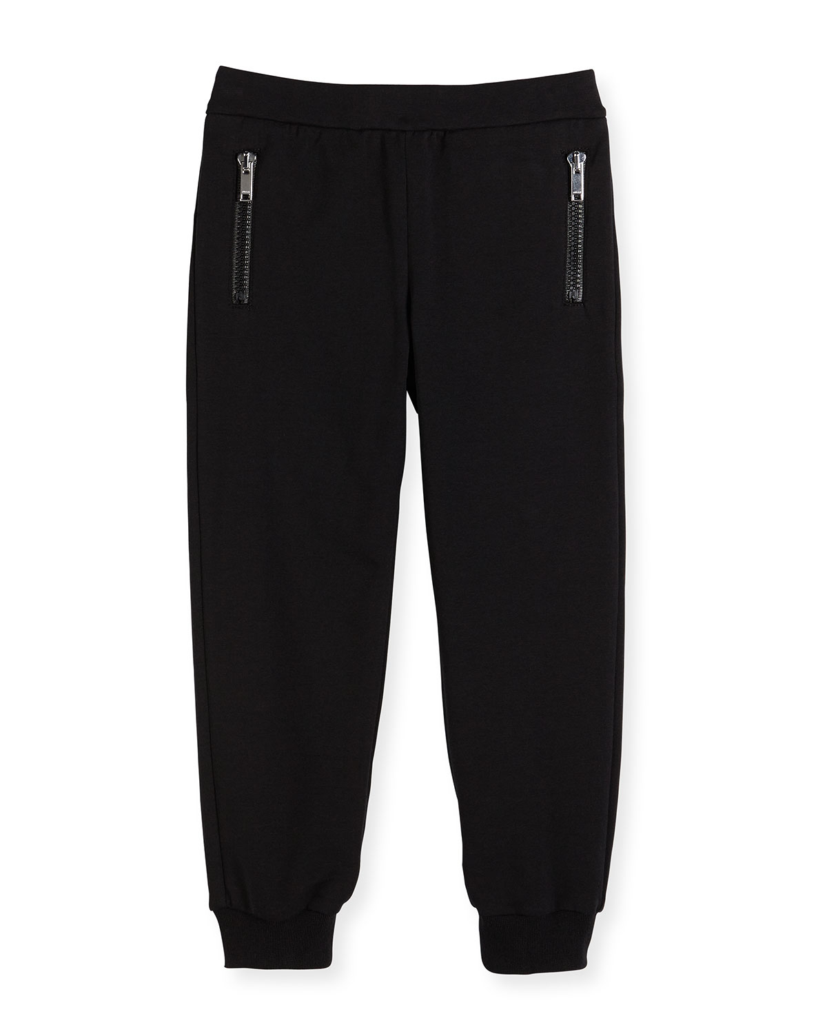 Gucci Stretch-Cotton Zip Track Pants in Black