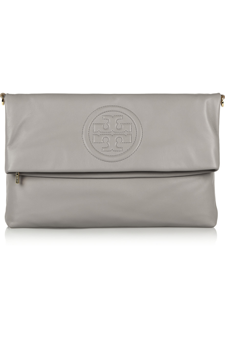 d35f507f523 Tory Burch Bombe Fold-over Clutch in Gray - Lyst