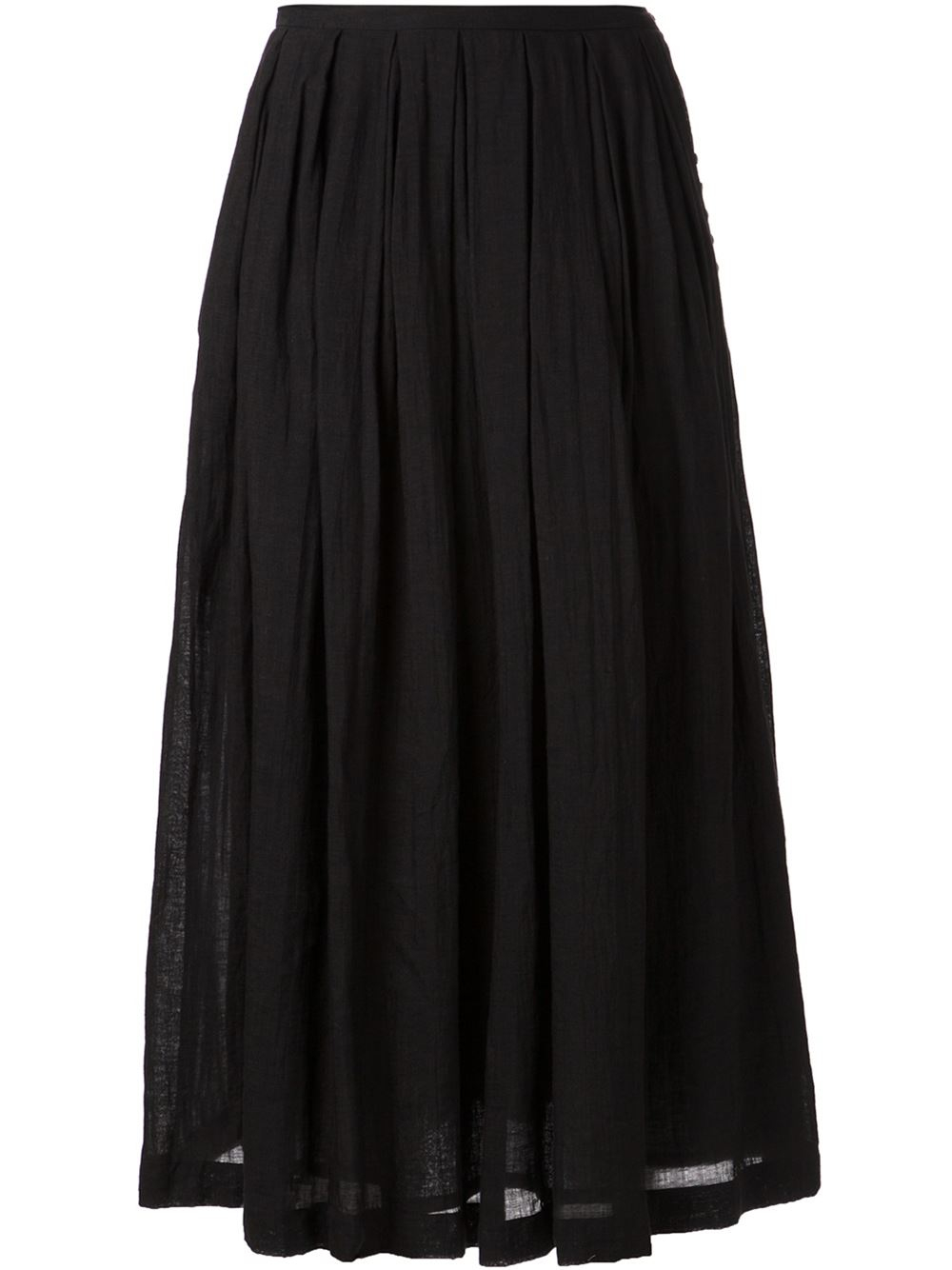 arts science pleated skirt in black lyst