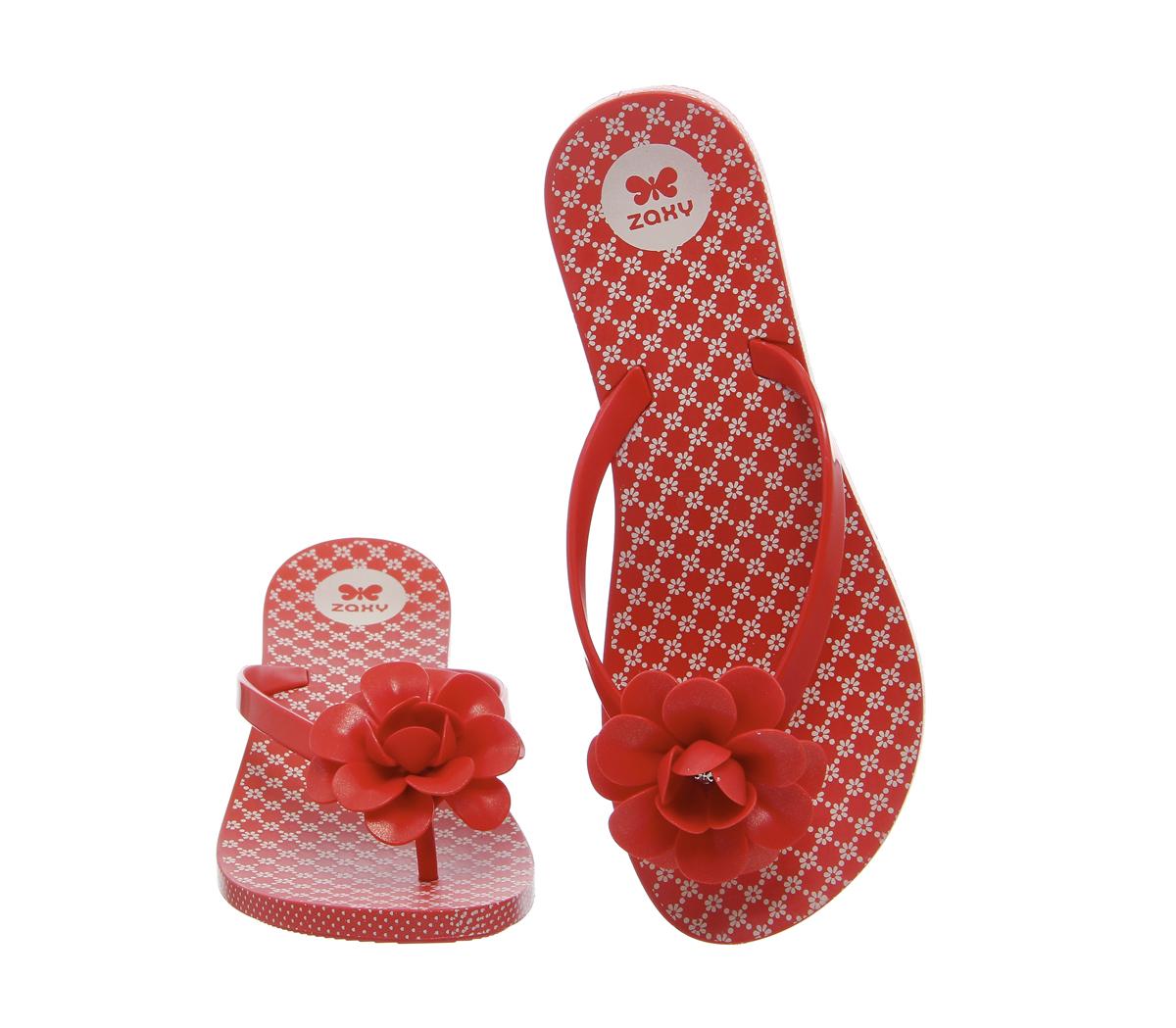 f8cf0964e2506 Lyst - Zaxy Flowers Flip Flop in Red