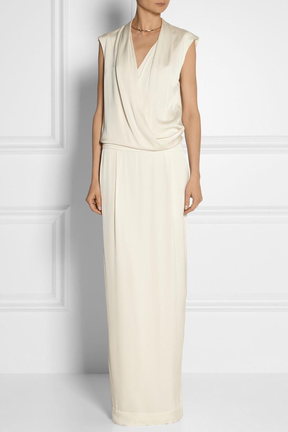f94c7b3dc701 By Malene Birger Columba Wrap-Effect Stretch-Silk Maxi Dress in ...