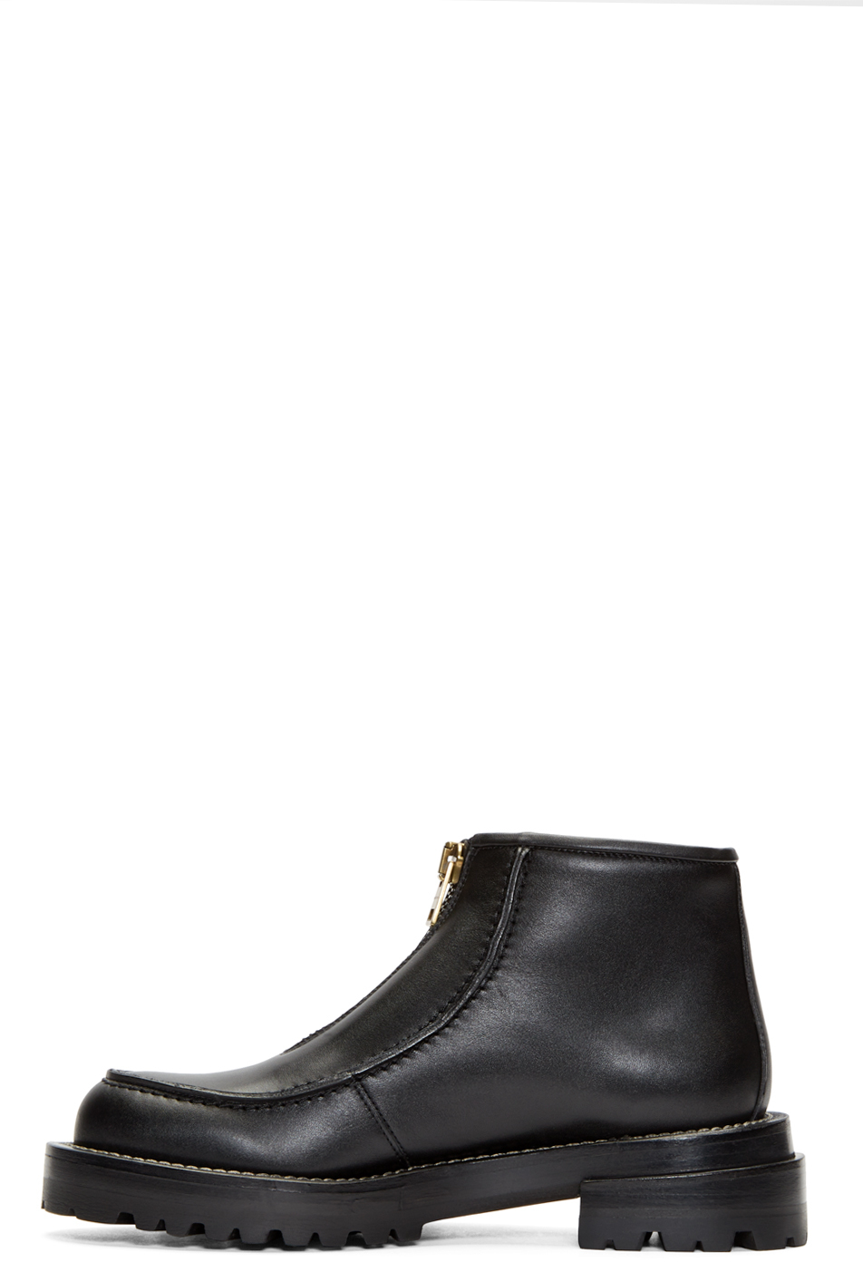 Marni Zipped Leather Ankle Boots 4REy7a