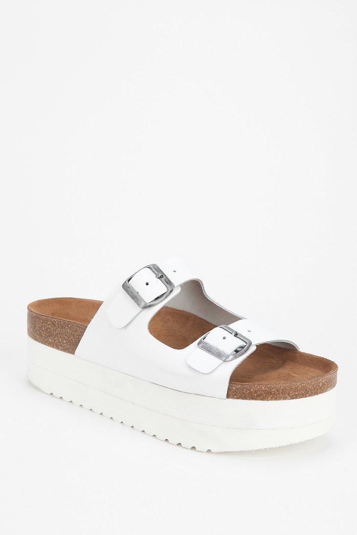 Jeffrey Campbell Aurelia Platform Slide Sandal In White Lyst