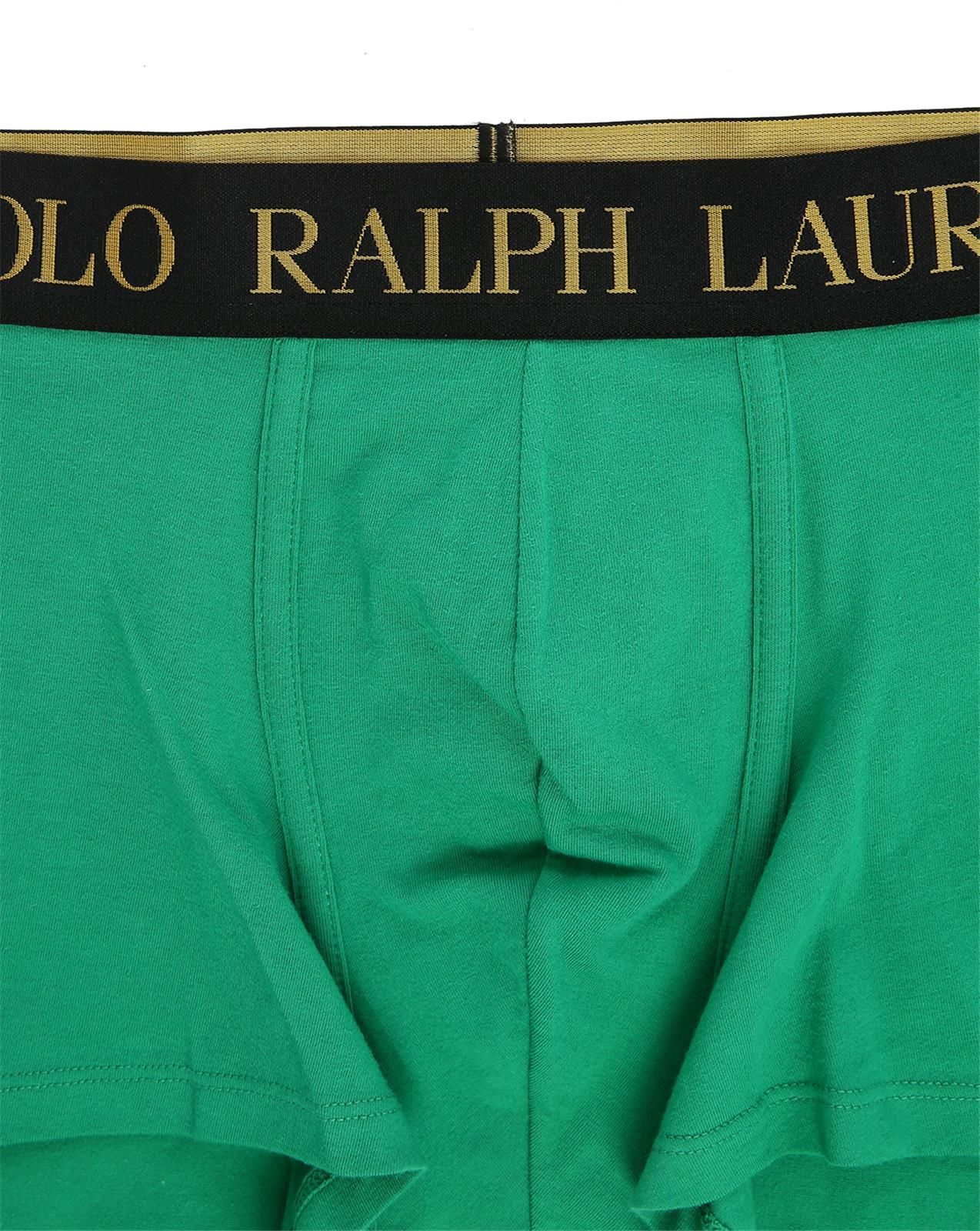 Polo ralph lauren Big Pony Gold Boxer Shorts With Green Logo in Green for Men (