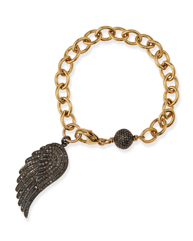 Sheryl Lowe 14k Gold Diamond Star Bracelet HgHHGg
