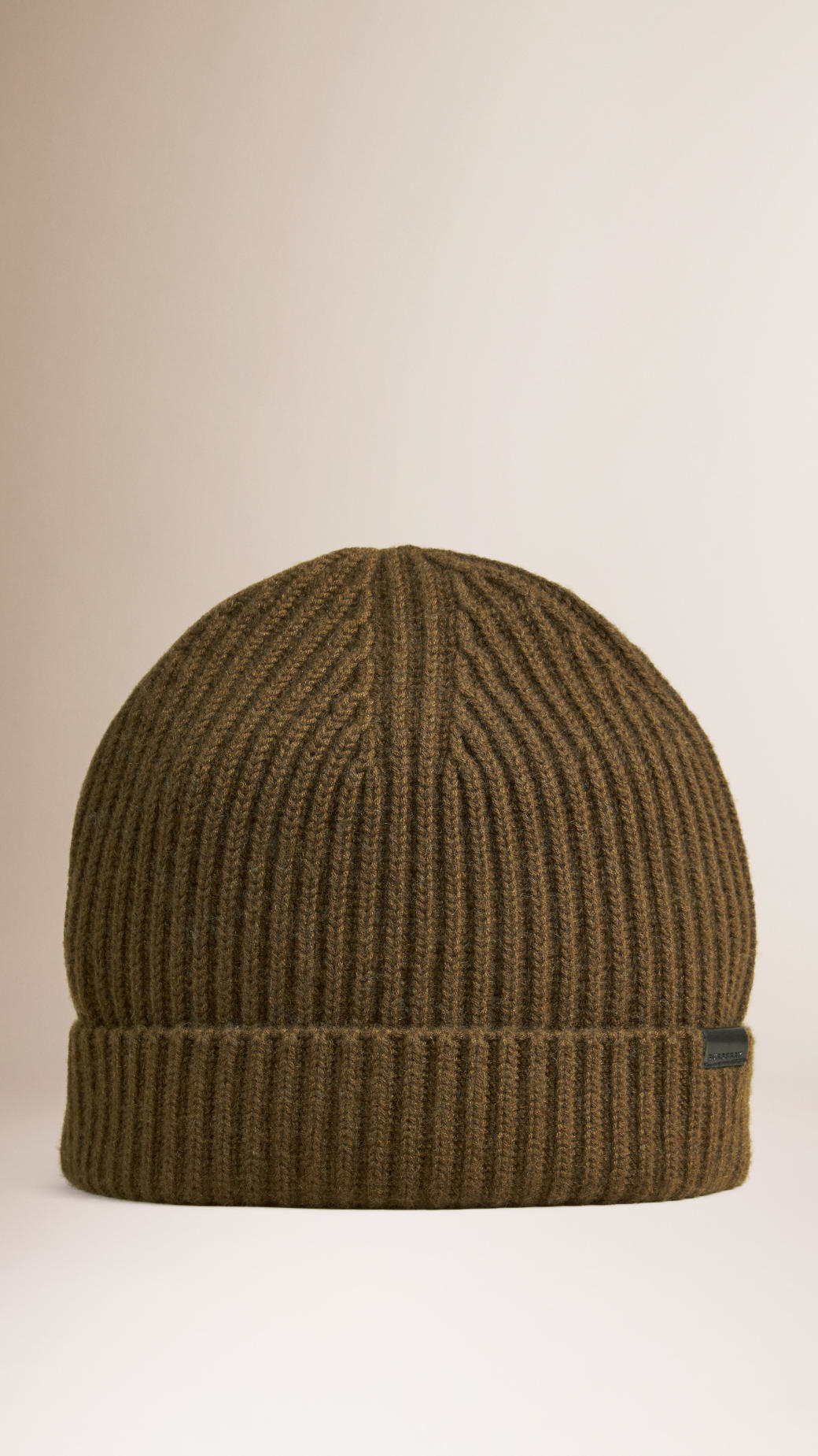 Knitting Pattern For Cashmere Beanie : Burberry Cashmere Rib Knit Beanie Olive Green in Green for ...