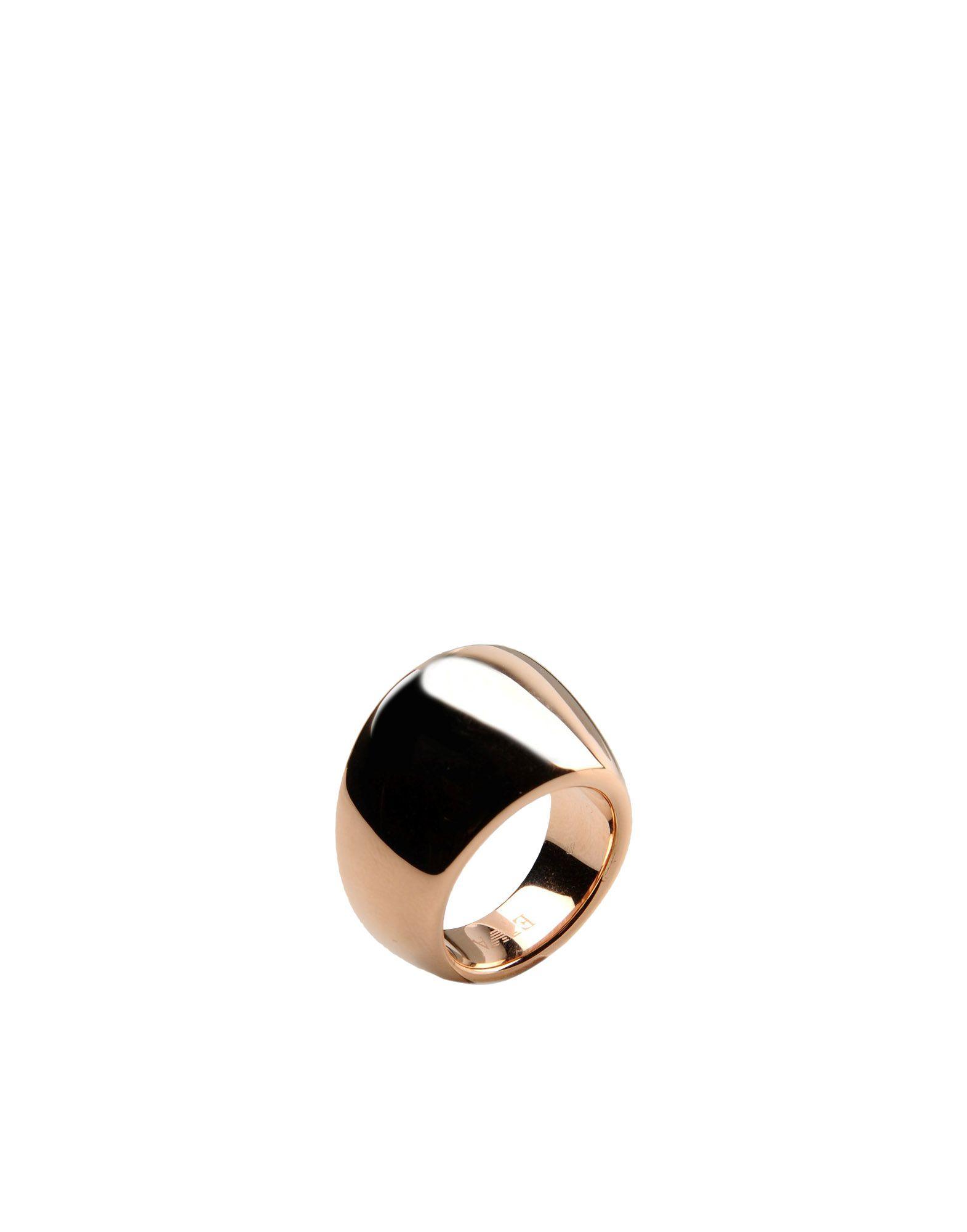 emporio armani ring in gold for copper lyst