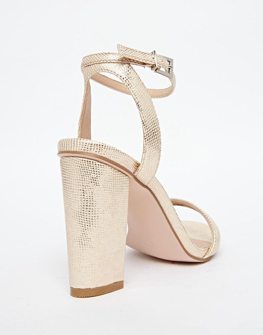 Sandals Hermione In Lyst Ctlkf1j Heeled Asos Metallic mwv8Nn0