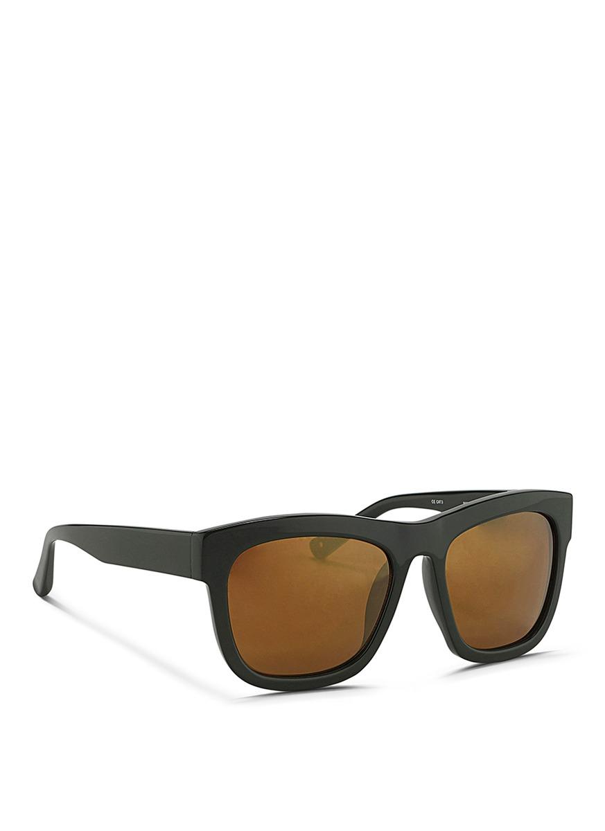 3 1 phillip lim acetate square sunglasses in green lyst