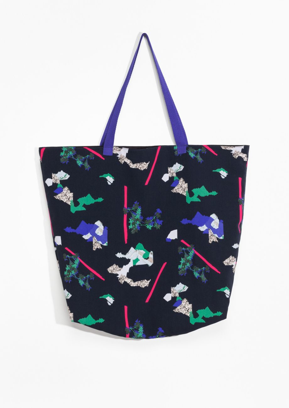 & Other Stories Rock Garden Canvas Tote