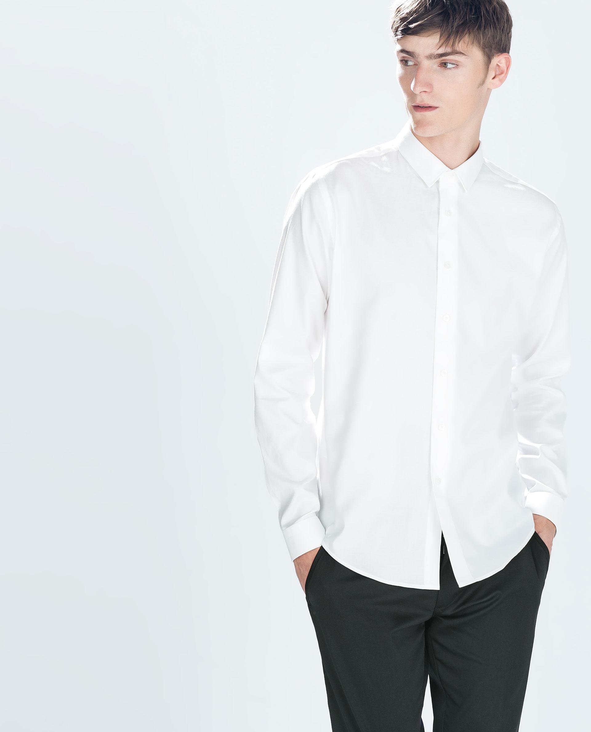 Zara Oxford Shirt in White for Men | Lyst