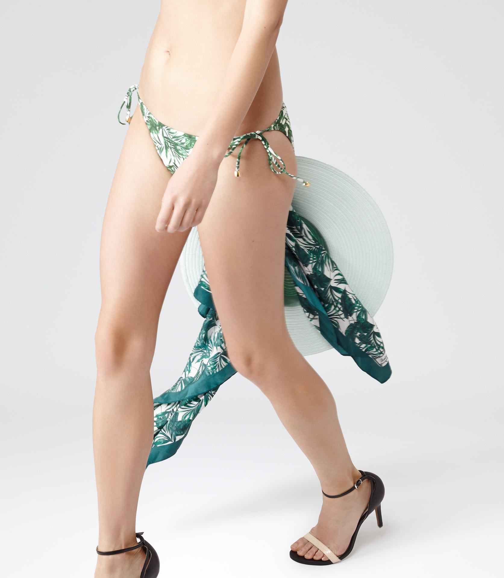 4f7213ff658fd Lyst - Reiss Tigra T Palm Print Bikini Bottoms in Green