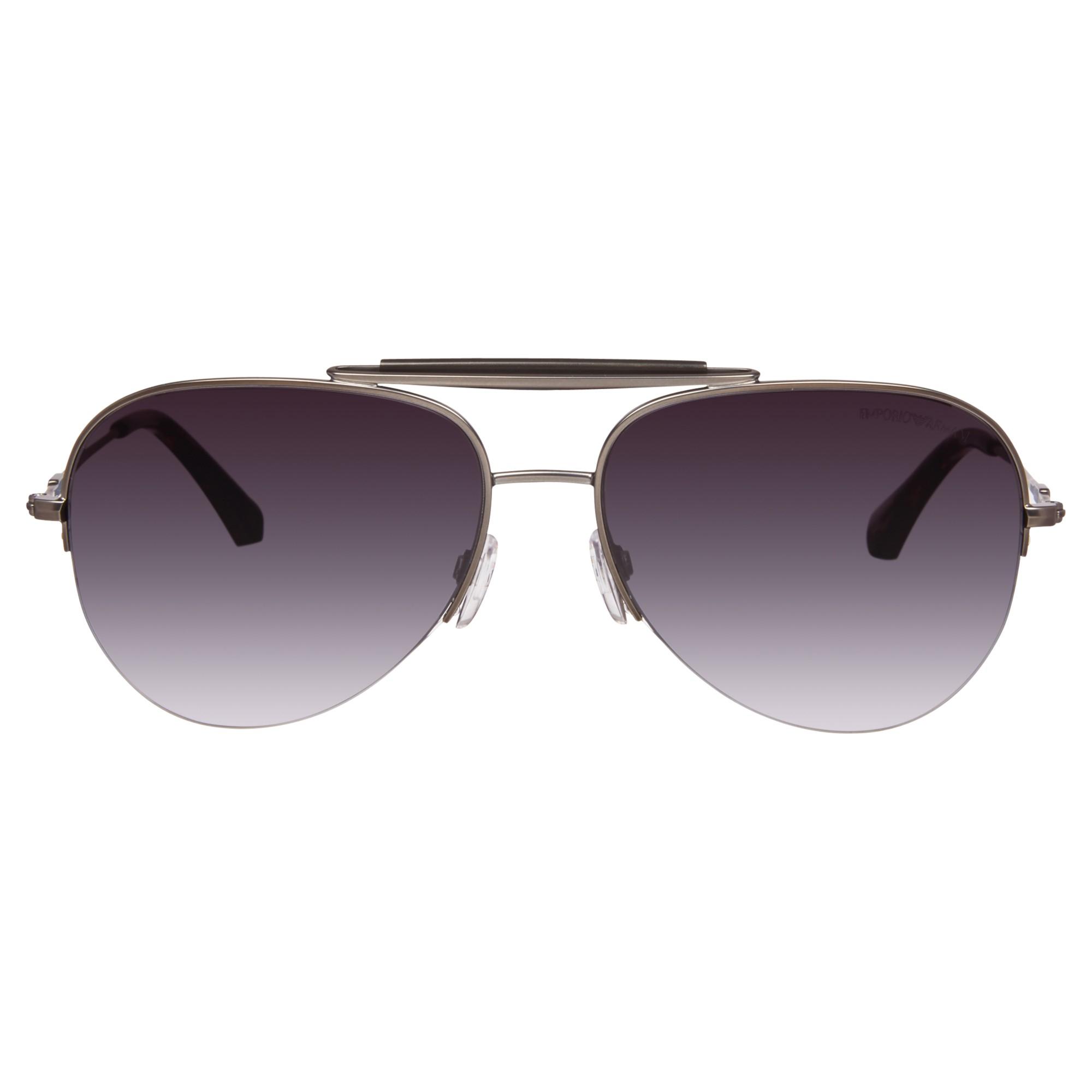 44c2f96e63e Emporio armani 0Ea2020 Aviator Sunglasses in Gray