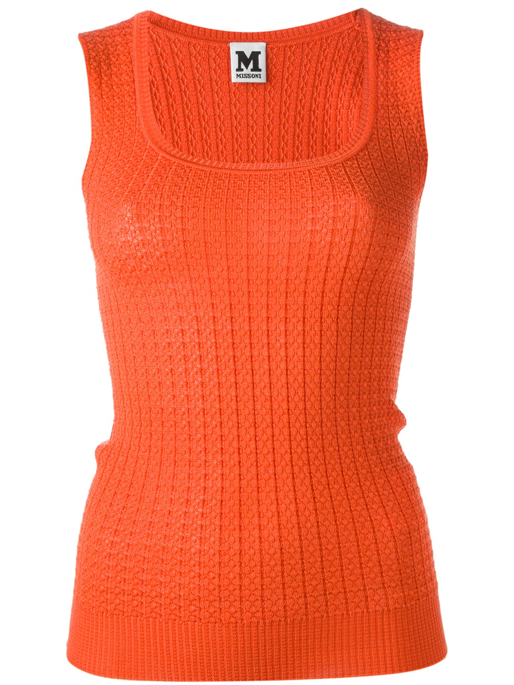 Lyst M Missoni Cable Knit Tank Top In Orange